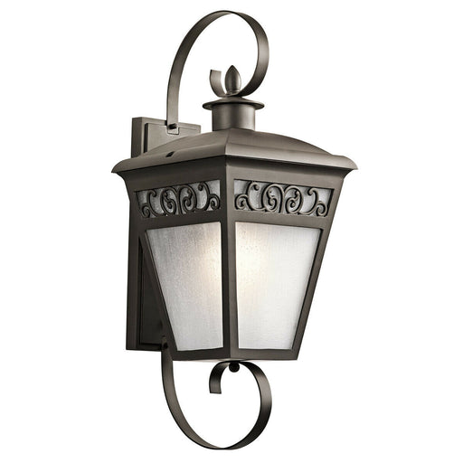 Kichler Lighting 49614 OZ Park Row Collection One Light Exterior Outdoor Wall Lantern in Olde Bronze Finish