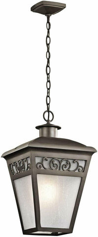 Kichler Lighting 49615 OZ Park Row Collection One Light Exterior Outdoor Hanging Lantern in Olde Bronze Finish
