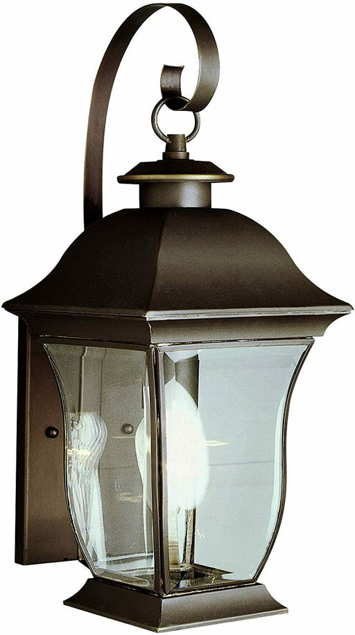 Trans Globe Lighting 4970 WBZ Downing Collection One Light Outdoor Wall Lantern in Weathered Bronze Finish
