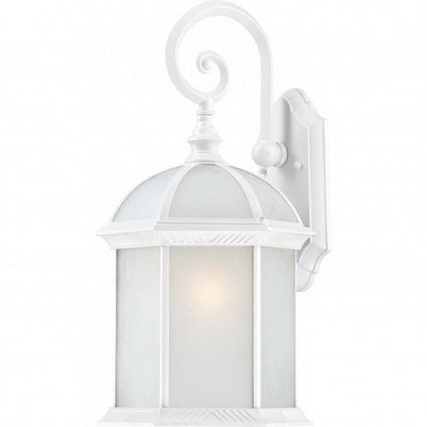 Nuvo Lighting 60-4987 Boxwood Collection One Light Energy Star Efficient GU24 Exterior Outdoor Wall Lantern in White Finish