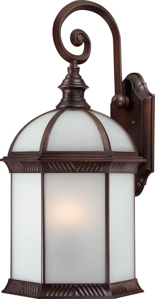 Nuvo Lighting 60-4988 Boxwood Collection One Light Energy Star Efficient GU24 Exterior Outdoor Wall Lantern in Rustic Bronze Finish