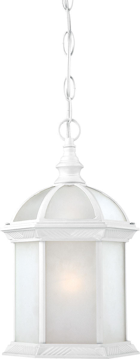 Nuvo Lighting 60-4997 Boxwood Collection One Light Energy Star Efficient GU24 Exterior Outdoor Hanging Lantern in White Finish