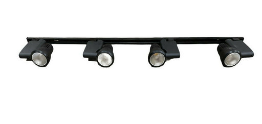 Nora NTE-810-BLK Four Light Pillar LED Track Kit in Black Finish