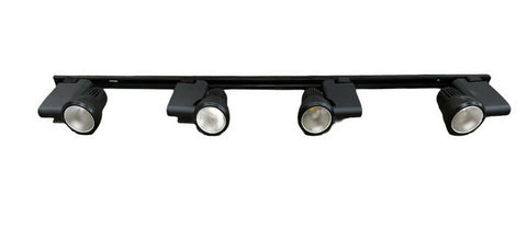 Nora NTE-810-BLK Four Light Pillar LED Track Kit with End Feed Cord and Plug in Black Finish