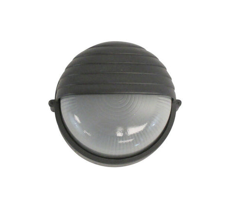Rainbow EVER 5002 BK One Light Exterior Outdoor Bulkhead in Black Finish