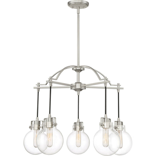 Quoizel Lighting SDL5005BN Sidwell Collection Five Light Hanging Pendant Chandelier in Brushed Nickel Finish