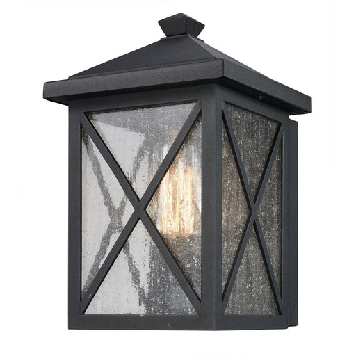 Trans Globe Lighting 50340 BK Leonis Collection One Light Outdoor Wall Lantern in Black Finish