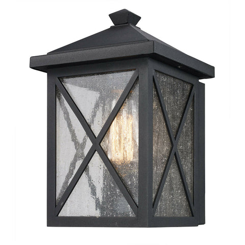Trans Globe Lighting 50341 BK Leonis Collection One Light Outdoor Wall Lantern in Black Finish