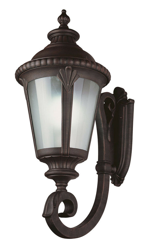 Trans Globe Lighting PL-45041RT-LED Stonebridge Italian Estate Collection One Light LED Outdoor Wall Mount Lantern in Rust Finish