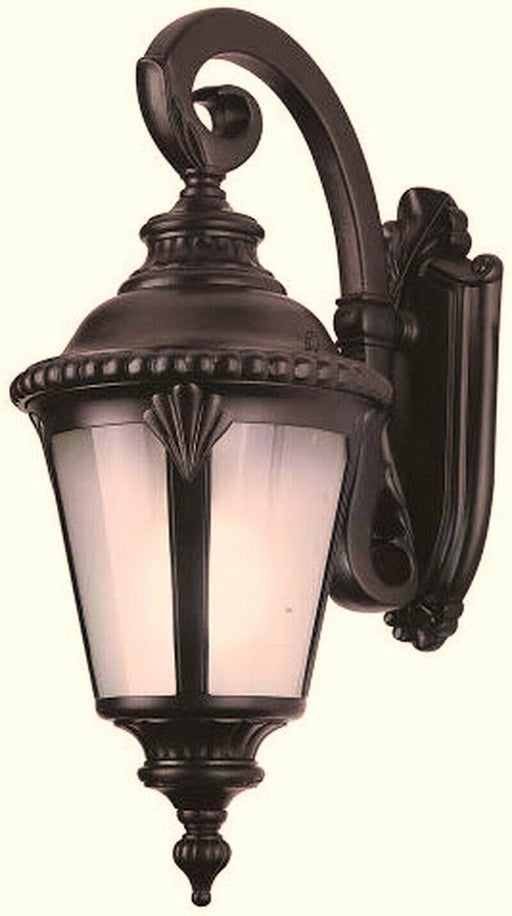 Trans Globe Lighting PL-45043RT-LED Stonebridge Italian Estate Collection One Light LED Outdoor Wall Mount Lantern in Rust Finish