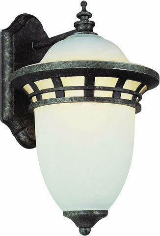 Trans Globe Lighting PL-45111AP-LED One Light Outdoor Wall Lantern in Antique Pewter Finish