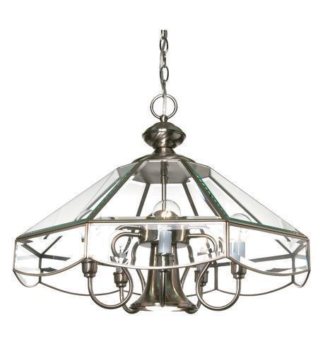 Nuvo Lighting 60-512 Five Light Hanging Chandelier in Brushed Nickel Finish