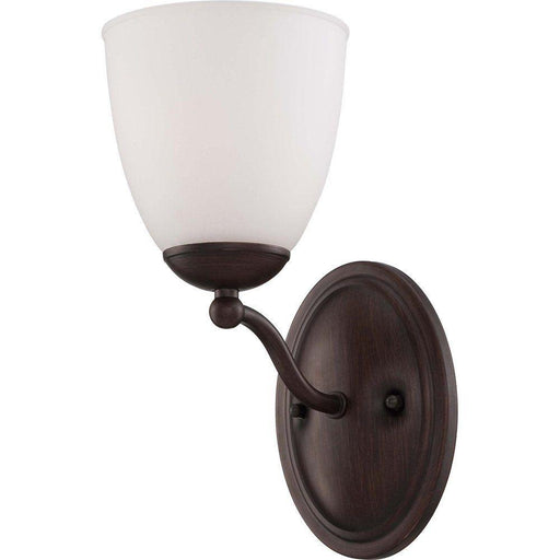 Nuvo Lighting 60-5151 Patton Collection One Light Energy Star Efficient GU24 Wall Sconce in Prairie Bronze Finish