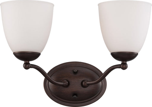 Nuvo Lighting 60-5152 Patton Collection Two Light Energy Star Efficient GU24 Bath Vanity Wall Mount in Prairie Bronze Finish