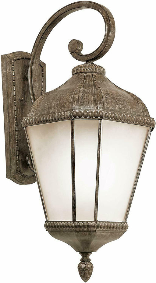 Trans Globe Lighting PL-45252BRT-LED One Light Outdoor Wall Mount Lantern in Burnished Rust Finish
