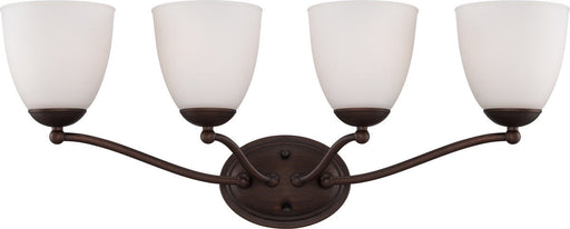 Nuvo Lighting 60-5154 Patton Collection Four Light Energy Star Efficient GU24 Bath Vanity Wall Mount in Prairie Bronze Finish