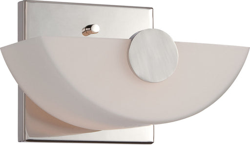 Nuvo Lighting 60-5191 Signature Collection One Light Wall Sconce in Polished Nickel Finish