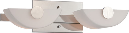 Nuvo Lighting 60-5192 Signature Collection Two Light Vanity Wall Mount in Polished Nickel Finish