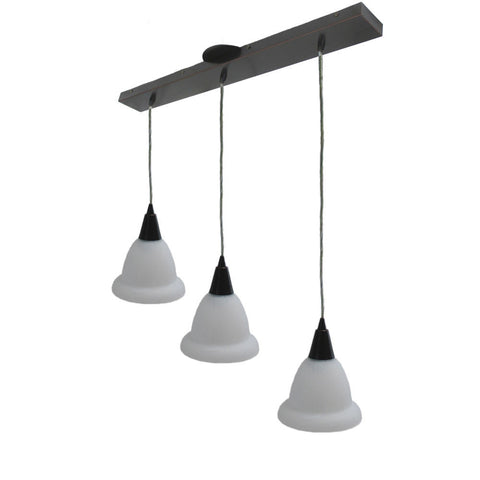 Access Lighting 52023 ORB-F5123 Three Light Hanging Pendant in Oil Rubbed Bronze Finish - Quality Discount Lighting