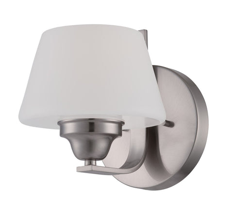 Nuvo Lighting 60-5221 Ludlow Collection One Light Wall Sconce in Brushed Nickel Finish