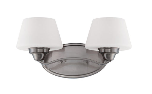 Nuvo Lighting 60-5222 Ludlow Collection Two Light Bath Vanity Wall Sconce in Brushed Nickel Finish