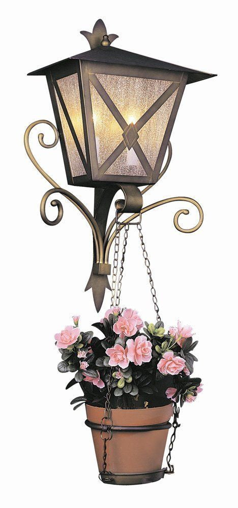 Trans Globe Lighting 5266 AG Two Light Outdoor Wall Lantern in Antique Gold Finish - Discount Lighting Fixtures