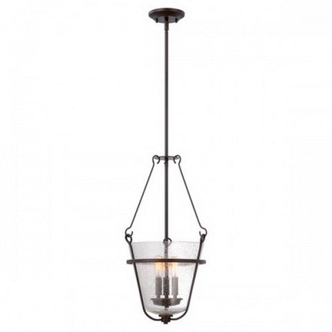 Nuvo Lighting 60-5284 Latham Collection Three Light Hanging Pendant in Copper Espresso Finish