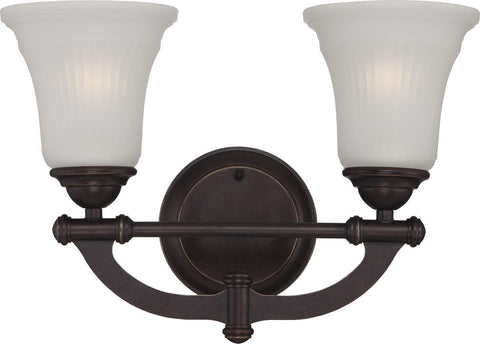Nuvo Lighting 60-5312 Monroe Collection Two Light Bath Vanity Wall Sconce in Georgetown Bronze Finish