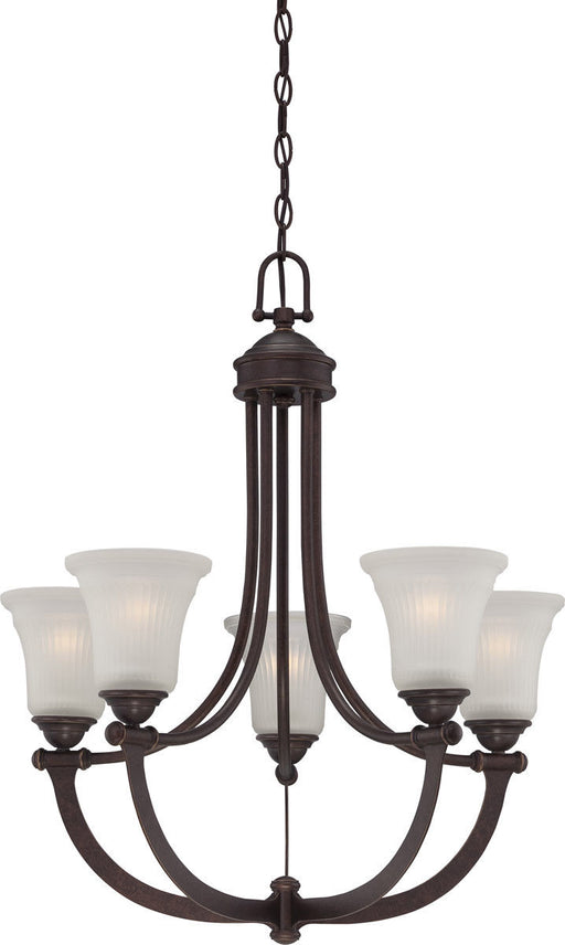 Nuvo Lighting 60-5315 Monroe Collection Five Light Hanging Chandelier in Georgetown Bronze Finish