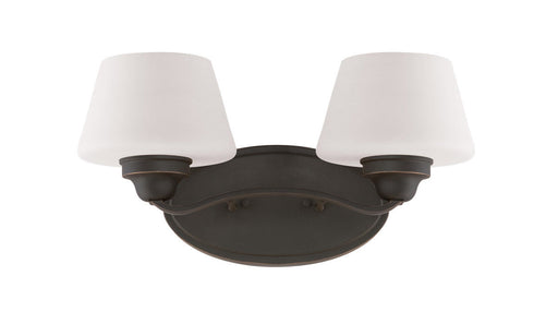 Nuvo Lighting 60-5322 Ludlow Collection Two Light Bath Vanity Wall Sconce in Russet Bronze Finish