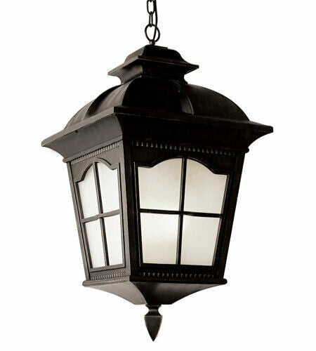 Trans Globe Lighting PL-45426BK-LED Chesapeake Collection One Light Exterior Outdoor Hanging Pendant Lantern in Black Finish
