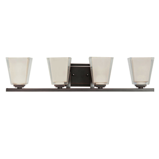 Kichler Lighting 5462 OZ Urban Ice Collection Four Light Bath Vanity Wall Mount in Olde Bronze Finish