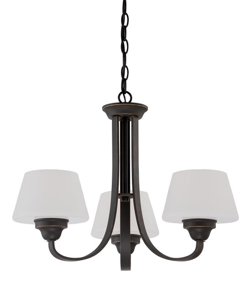 Nuvo Lighting 60-5324 Ludlow Collection Three Light Hanging Chandelier in Russet Bronze Finish