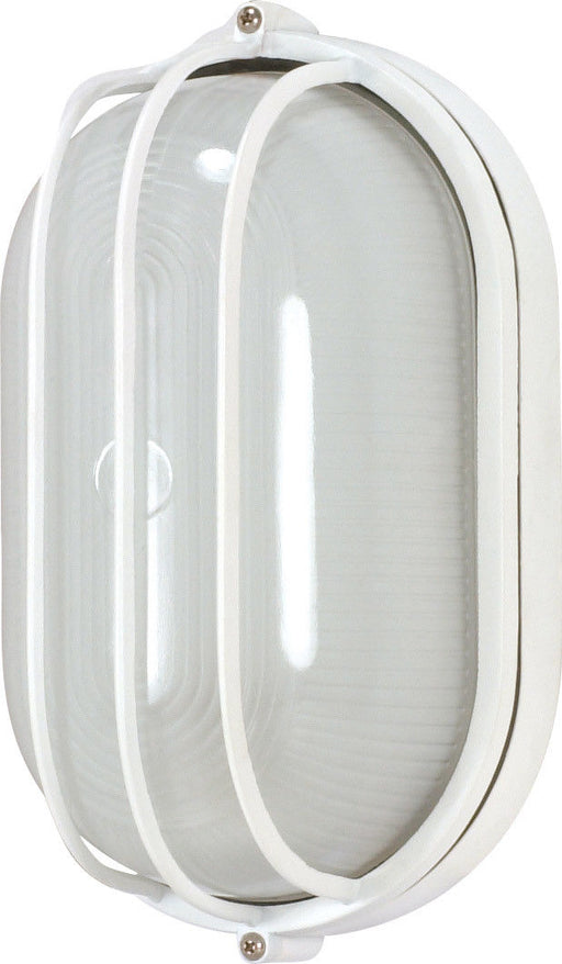 Nuvo Lighting 60-568 Signature Collection One Light Energy Efficient GU24 Exterior Outdoor Wall Lantern in White Finish