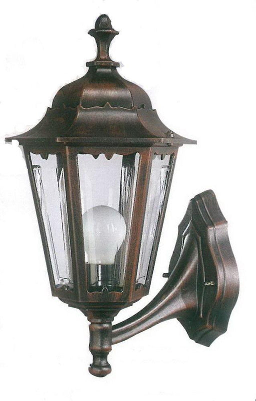 Rainbow ADJ APX-C56SC-RU One Light Exterior Outdoor Wall Lantern in Rust Finish