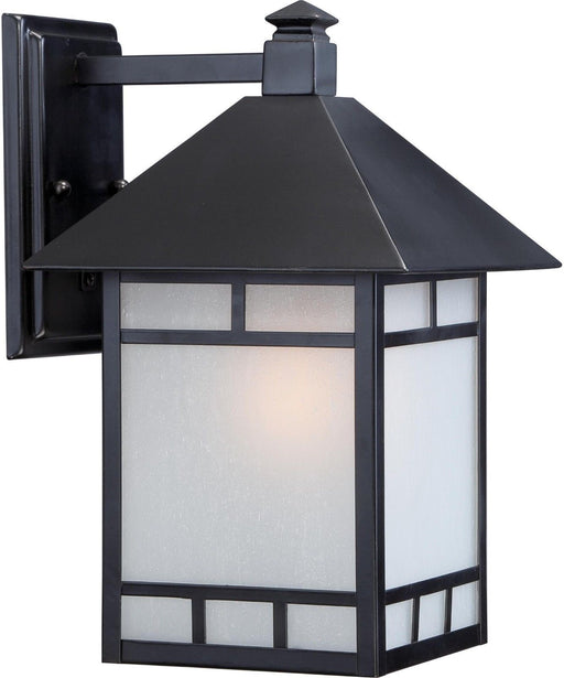 Nuvo Lighting 60-5702 Drexel Collection One Light Energy Efficient GU24 Exterior Outdoor Wall Lantern in Stone Black Finish