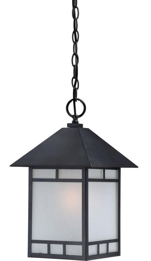 Nuvo Lighting 60-5704 Drexel Collection One Light Energy Efficient GU24 Exterior Outdoor Hanging Lantern in Stone Black Finish