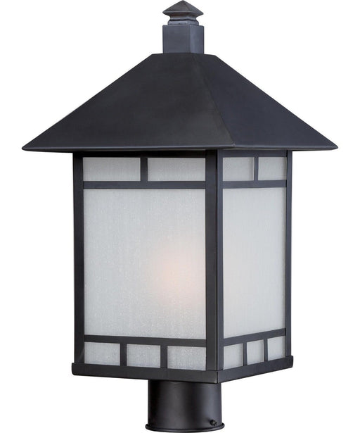 Nuvo Lighting 60-5705 Drexel Collection One Light Energy Efficient GU24 Exterior Outdoor Post Lantern in Stone Black Finish