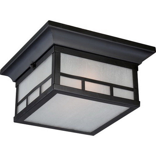 Nuvo Lighting 60-5706 Drexel Collection Two Light Energy Efficient GU24 Exterior Outdoor Ceiling Fixture in Stone Black Finish