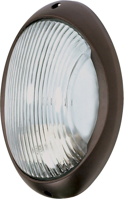Nuvo Lighting 60-571 Signature Collection One Light Energy Efficient GU24 Exterior Outdoor Wall or Ceiling Lantern in Architectural Bronze Finish