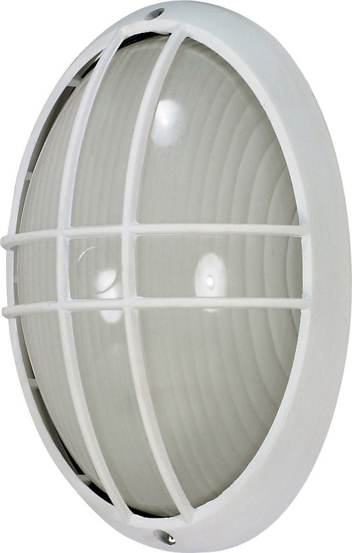 Nuvo Lighting 60-4572-LED Signature Collection One Light Exterior Outdoor Wall or Ceiling Fixture in White Finish