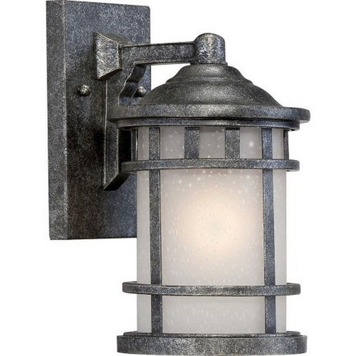 Nuvo Lighting 60-5731 Manor Collection One Light Energy Star GU24 Exterior Outdoor Wall Lantern in Aged Silver Finish