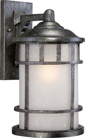 Nuvo Lighting 60-5733 Manor Collection One Light Energy Star GU24 Exterior Outdoor Wall Lantern in Aged Silver Finish