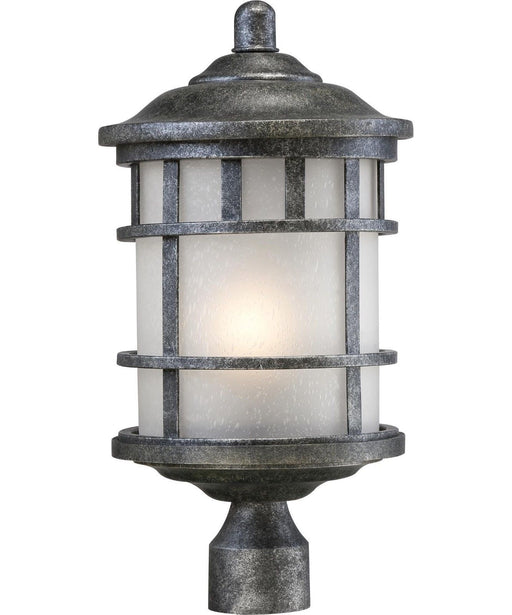 Nuvo Lighting 60-5735 Manor Collection One Light Energy Star GU24 Exterior Outdoor Post Lantern in Aged Silver Finish