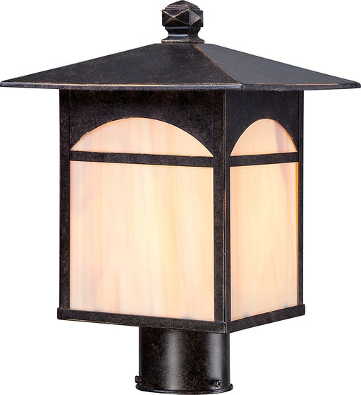 Nuvo Lighting 60-5755 Canyon Collection One Light Energy Efficient GU24 Exterior Outdoor Post Lantern in Umber Bronze Finish