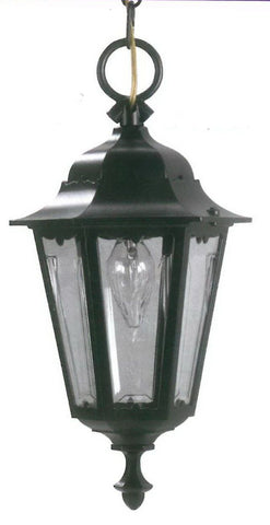 Adjustapost APX-C57HC-BK One Light Exterior Outdoor Hanging Lantern in Black Finish
