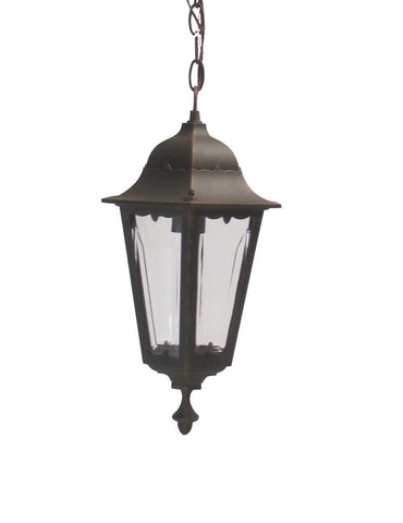 Adjustapost APX-C57HC-RU One Light Exterior Outdoor Hanging Lantern in Rust Finish