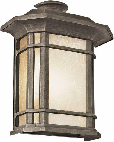 Trans Globe Lighting 5821-1 RT San Miguel Collection One Light Outdoor Wall Lantern in Bronze Rust Finish