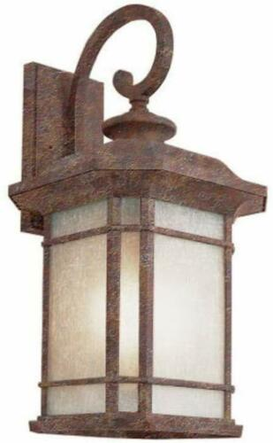 Trans Globe Lighting PL-45822RT-LED One Light Outdoor Wall Mount Lantern in Rust Finish
