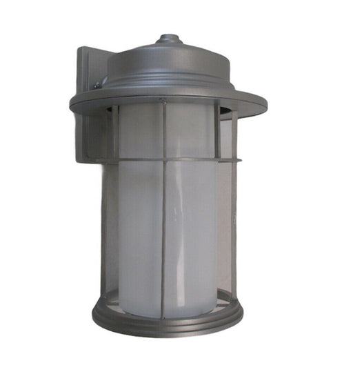 Trans Globe Lighting 5292 SL One Light Outdoor Wall Mount Lantern in Silver Finish